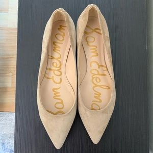 Sam Edelman Sally Flats Pointed Tan Suede Size 8